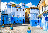 istock Amazing view of the street in the blue city of Chefchaouen. Location: Chefchaouen, Morocco, Africa. Artistic picture. Beauty world 1283390254