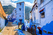 istock Amazing view of the street in the blue city of Chefchaouen. Location: Chefchaouen, Morocco, Africa. Artistic picture. Beauty world 974882372