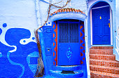 istock Amazing view of the street in the blue city of Chefchaouen. Location: Chefchaouen, Morocco, Africa. Artistic picture. Beauty world 978375864