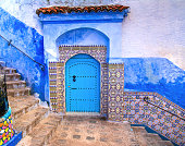 istock Amazing view of the street in the blue city of Chefchaouen. Location: Chefchaouen, Morocco, Africa. Artistic picture. Beauty world 978382932
