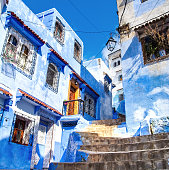istock Amazing view of the street in the blue city of Chefchaouen. Location: Chefchaouen, Morocco, Africa. Artistic picture. Beauty world 978383688