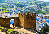 istock Amazing view of the street in the blue city of Chefchaouen 1079760814