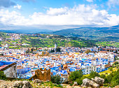 istock Amazing view of the streets in the blue city of Chefchaouen. Location: Chefchaouen, Morocco, Africa. Artistic picture. Beauty world 1254403419