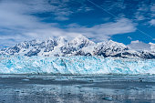 Snowy mountain peaks, wildlife, icebergs, Beautiful blue face of the glacier. This is Alaska cruise and ship was in Juneau, Ketchikan, and Skagway.
