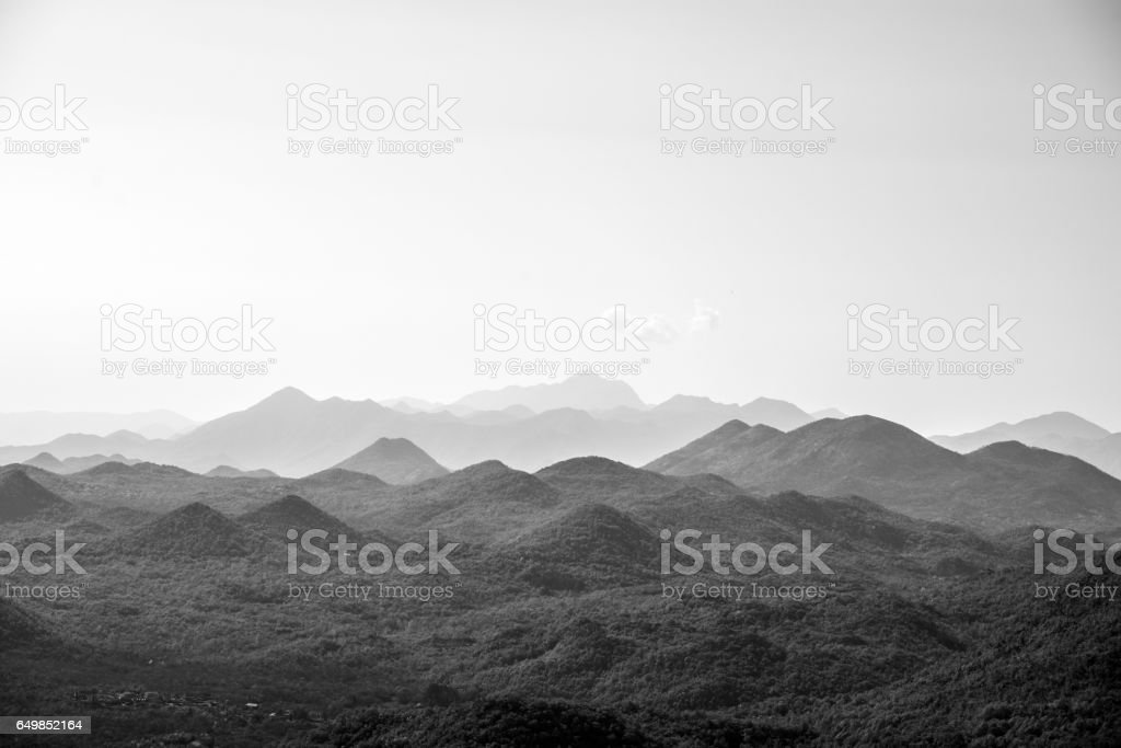 Amazing view on Naional park in Montenegro stock photo