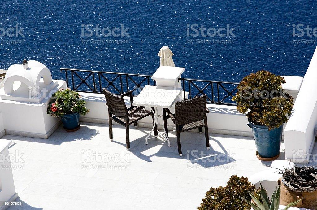 Amazing view on Santorini Greece royalty-free stock photo