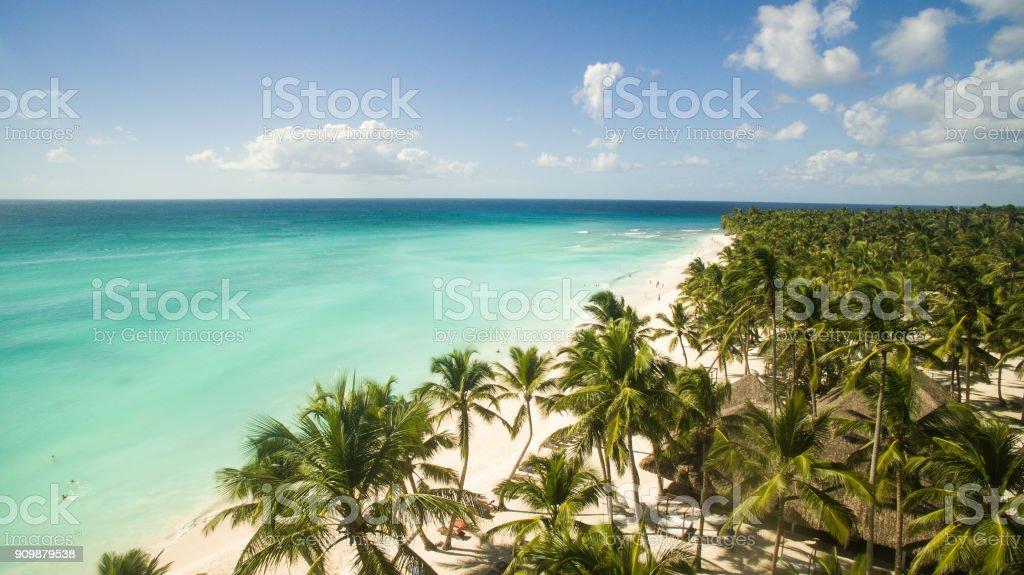 Amazing view on the Caribbean sea stock photo