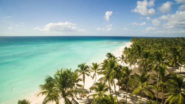 amazing view on the caribbean sea - caribbean stock pictures, royalty-free photos & images