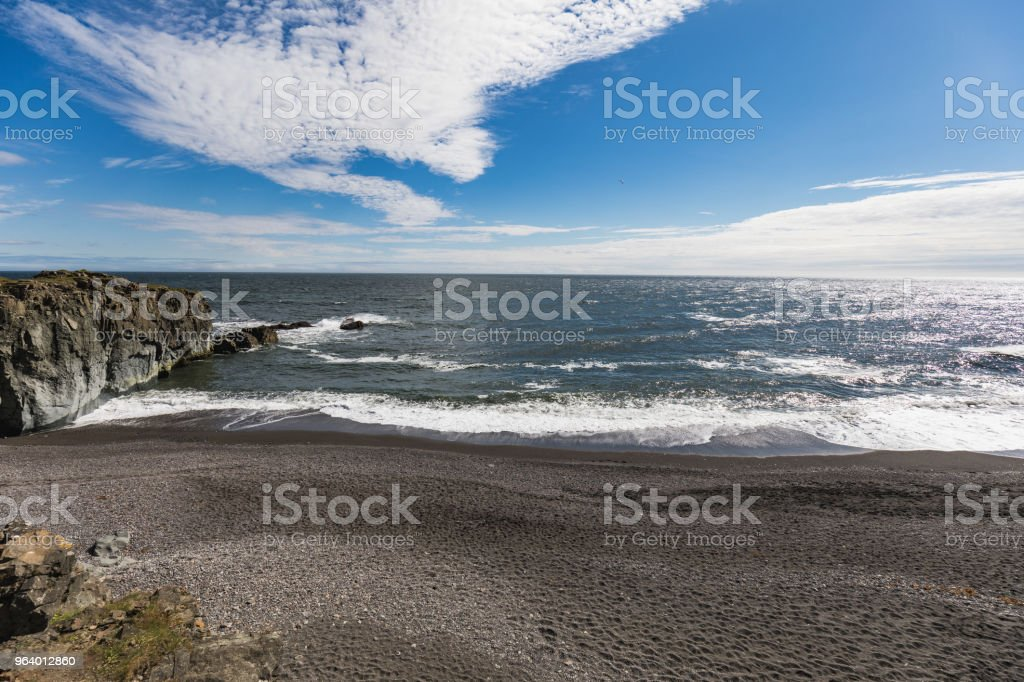 Amazing view to the fantastic coastline of iceland - Royalty-free Anger Stock Photo