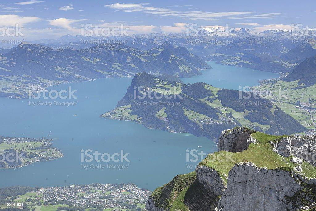 amazing view to the lake and mountains royalty-free stock photo