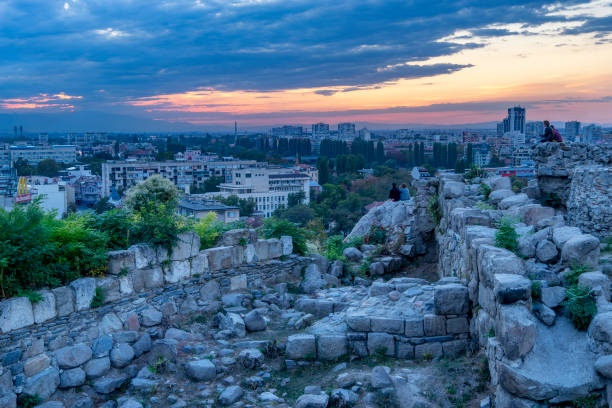 Amazing views and attractions of Plovdiv, Bulgaria stock photo