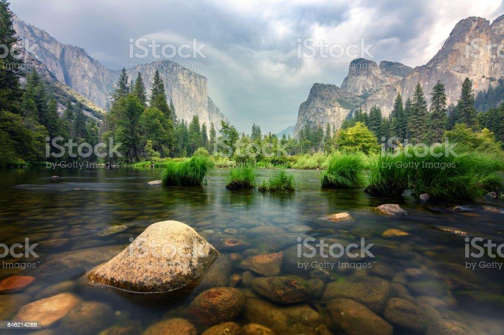 amazing views of el capitan mountain in yosemite valley, Usa royalty-free stock photo
