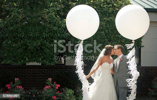 beautiful balloon kiss.