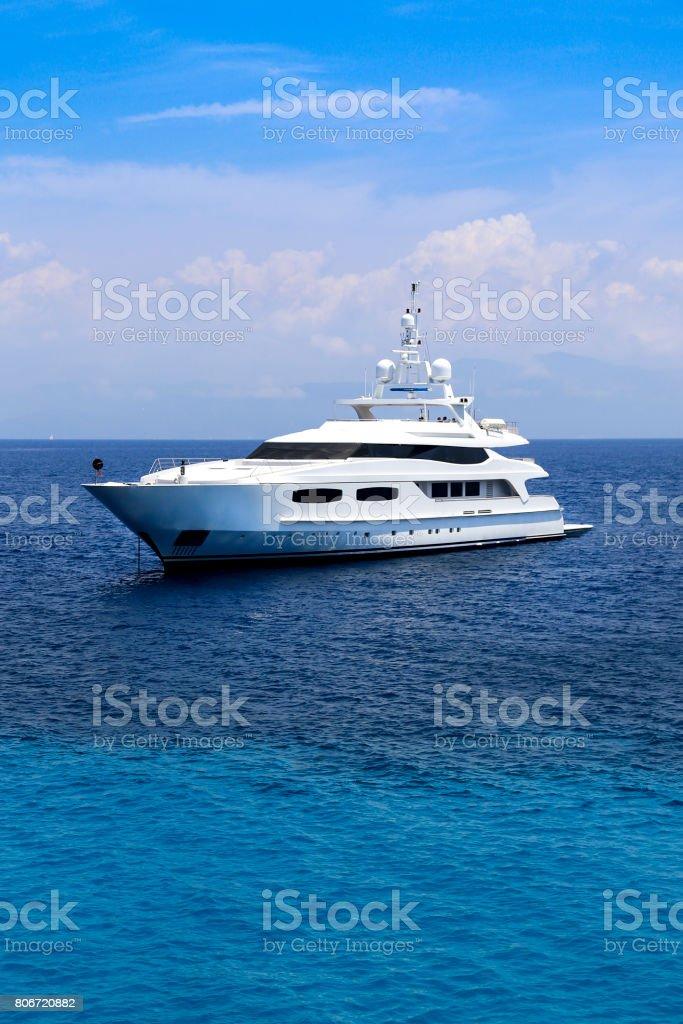Amazing yacht stock photo