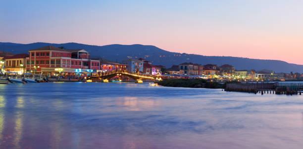 Amazingly beautiful photography of Lefkada's cityscape. stock photo