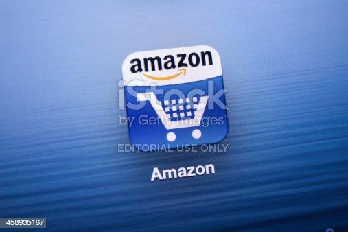istock Amazon App icon on New iPad 458935167