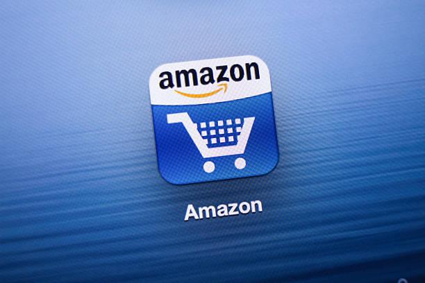 amazon ikonie aplikacji na nowy ipad - brand name zdjęcia i obrazy z banku zdjęć