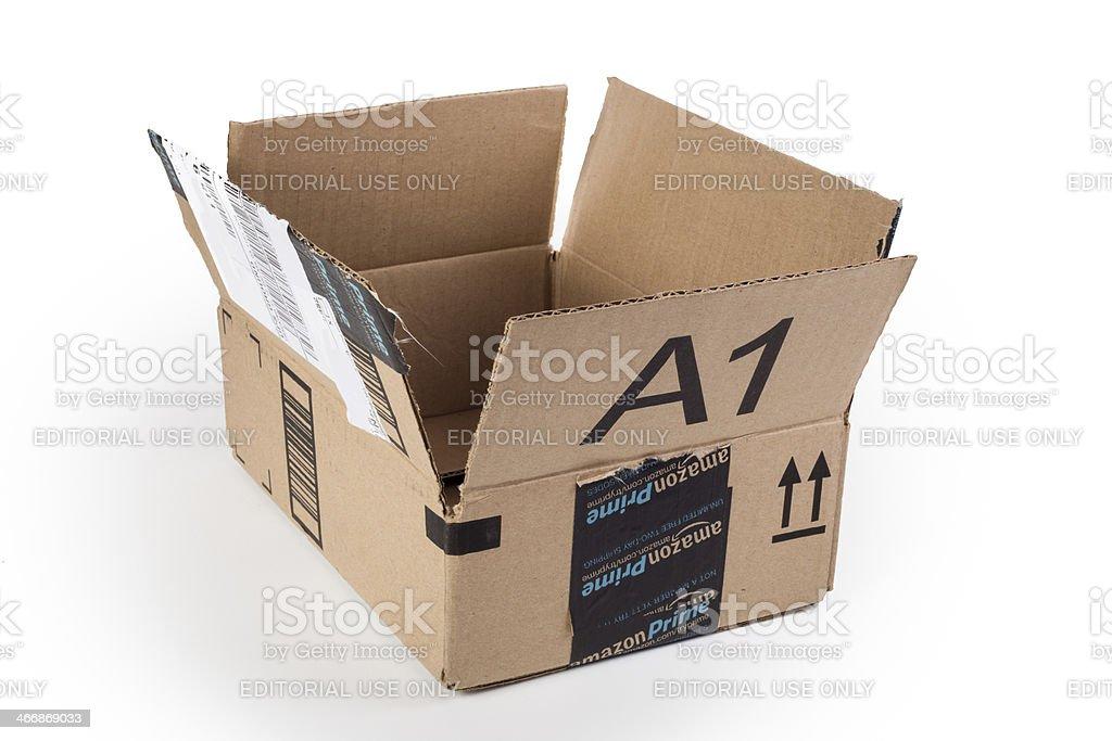 Amazon Box stock photo