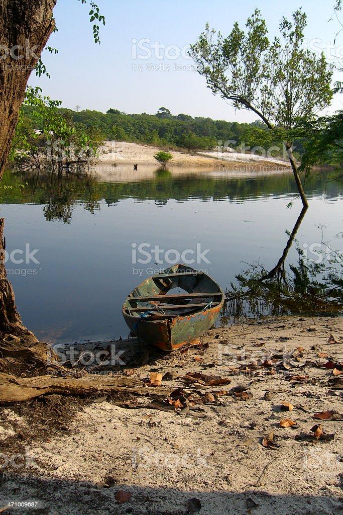 amazon canoe royalty-free stock photo