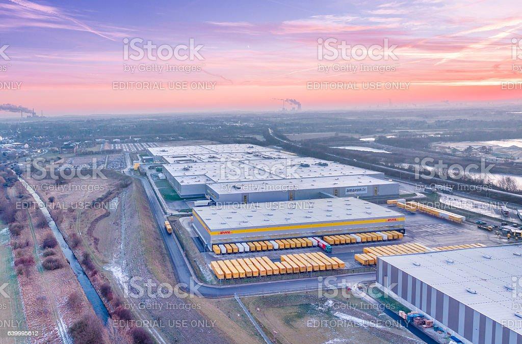 Amazon Distribution Center Aerial Stock Photo - Download