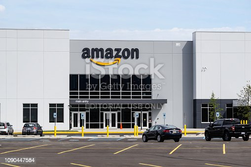 An Amazon warehouse and distribution center located in Shelby Township, Michigan.