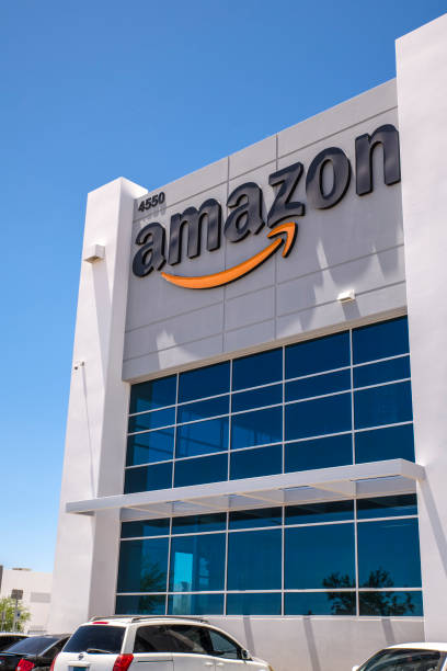Amazon fulfillment center building in Las Vegas stock photo