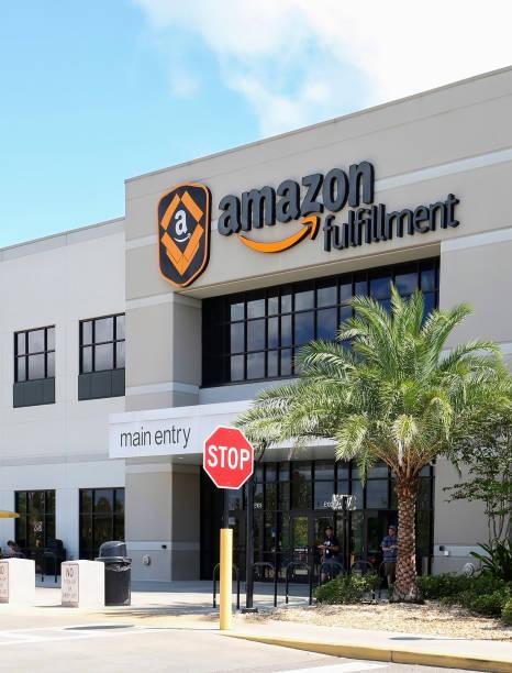 Amazon Fulfillment Center stock photo