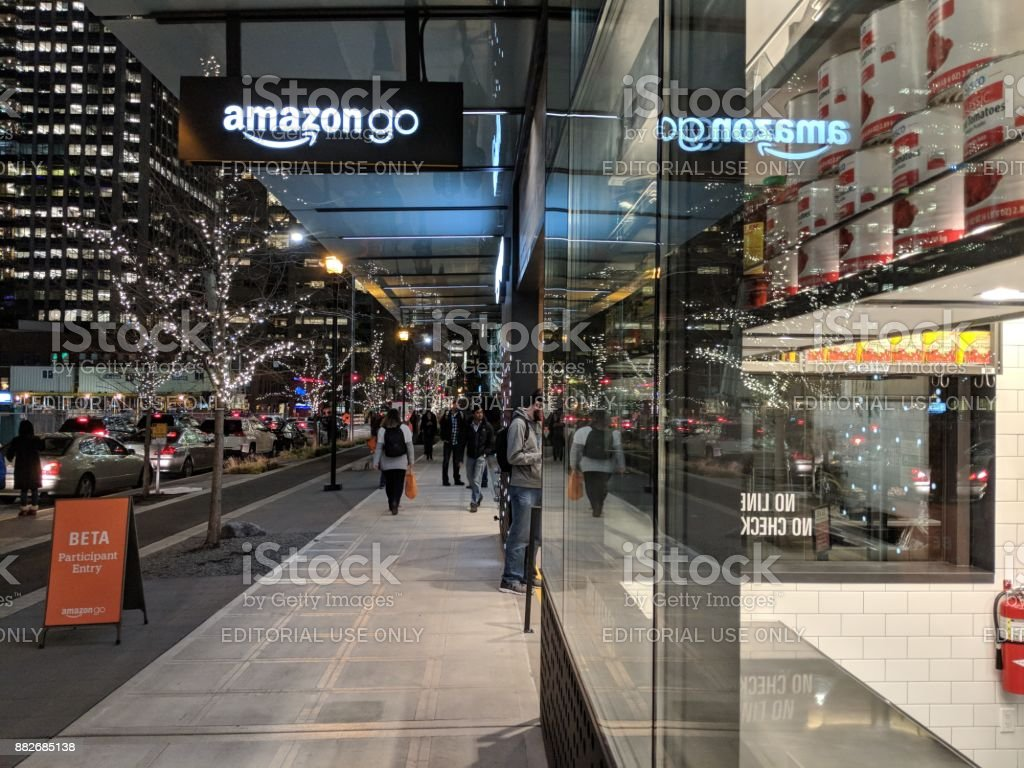 Amazon Go Beta Test Store on the Amazon Campus in Seattle stock photo