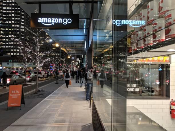 Amazon Go Beta Test Store on the Amazon Campus in Seattle stock photo
