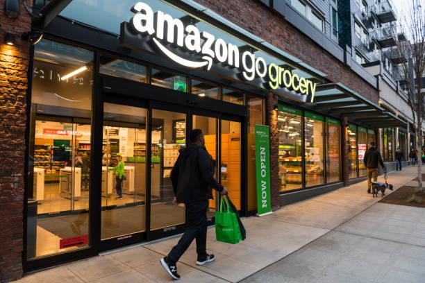 Amazon Grocery stock photo