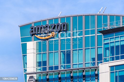 istock Amazon headquarters located in Silicon Valley 1064235628