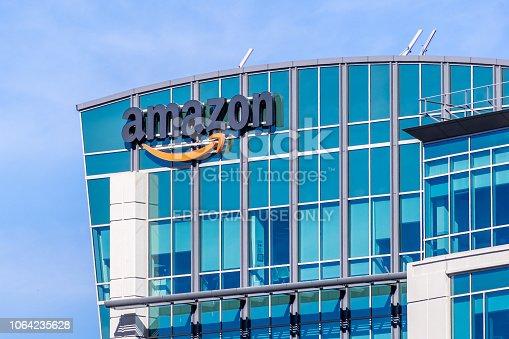 November 2, 2018 Sunnyvale / CA / USA - Amazon headquarters located in Silicon Valley, San Francisco bay area