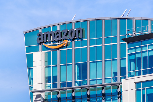 Amazon Headquarters Located In Silicon Valley Stock Photo - Download Image Now
