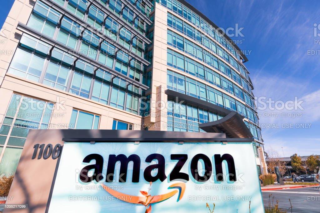 Amazon headquarters located in Silicon Valley Jan 24, 2020 Sunnyvale / CA / USA - Amazon headquarters located in Silicon Valley, San Francisco bay area Amazon.com Stock Photo