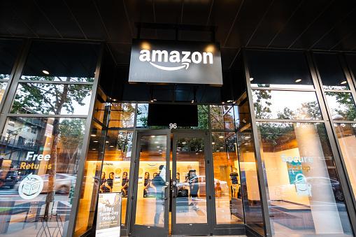 Amazon Hub Locker In San Joses Downtown Area Stock Photo - Download Image Now