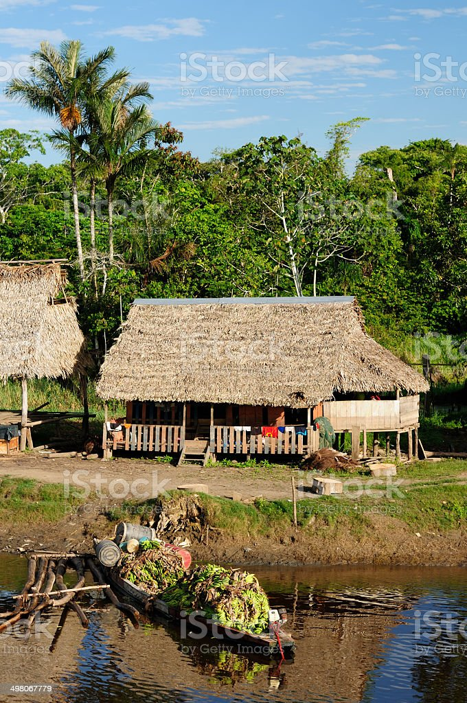 Amazon indian tribes stock photo