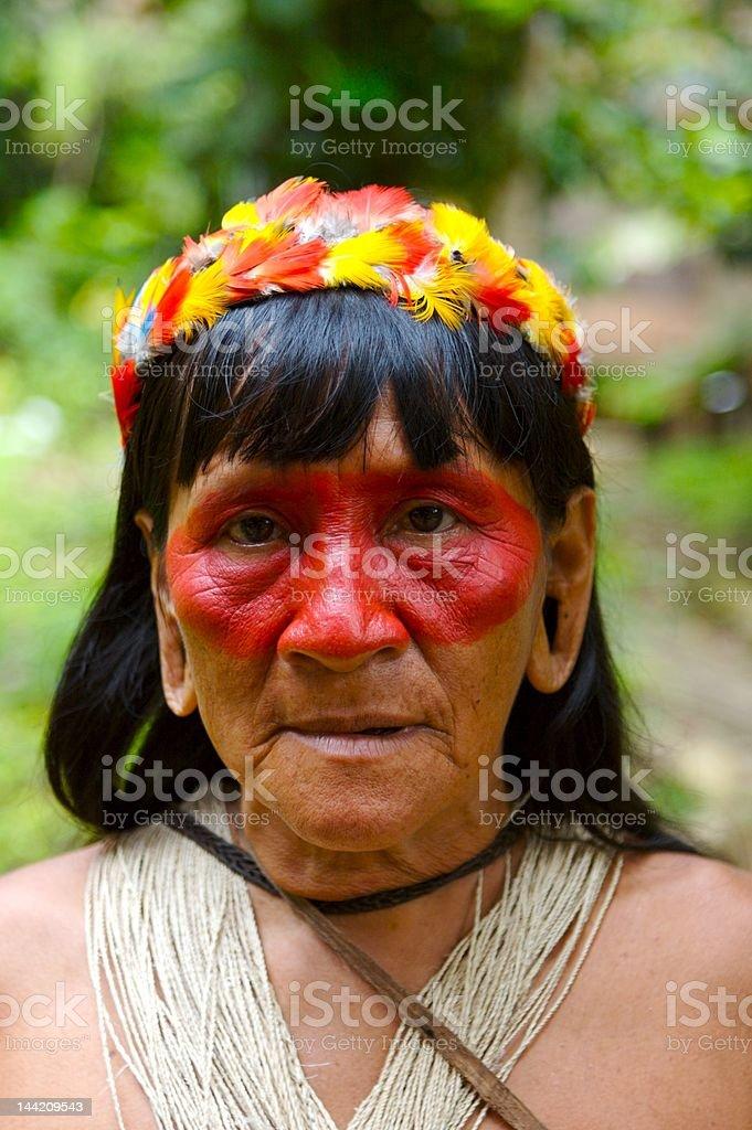 Amazon indian woman stock photo