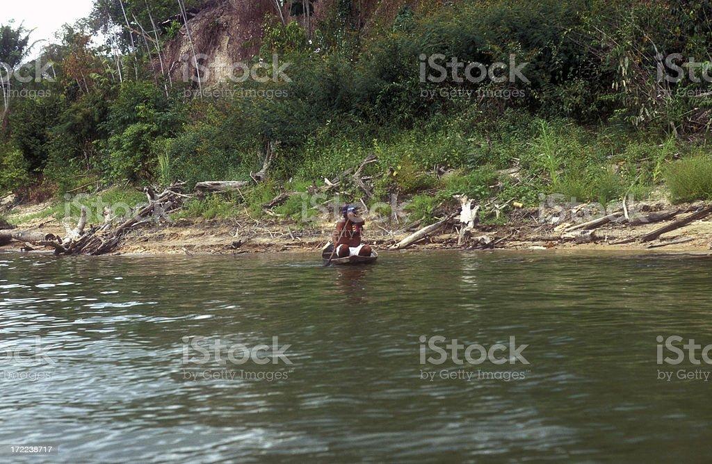 amazon indien boat stock photo