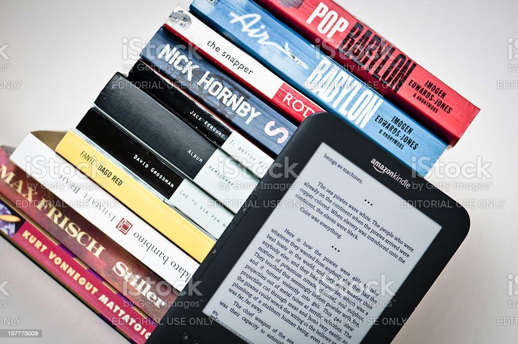 Amazon Kindle 3g Reading Device royalty-free stock photo