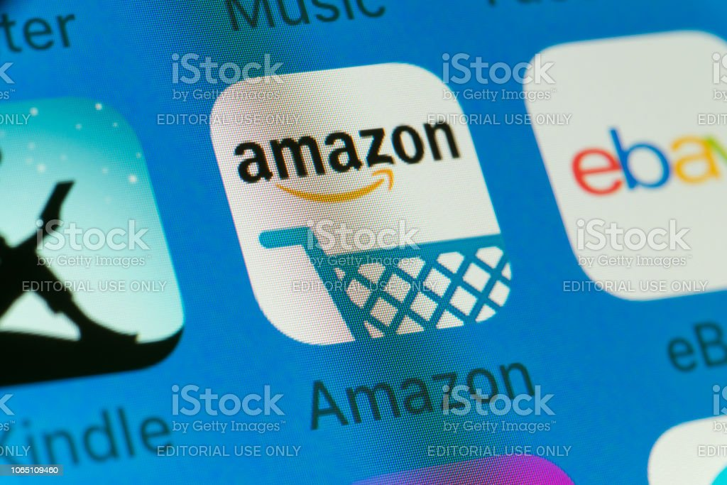 Amazon Kindle Ebay And Other Cellphone Apps On Iphone Screen Stock Photo Download Image Now Istock
