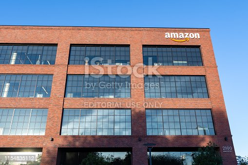 istock Amazon office building located in Silicon Valley 1154835112