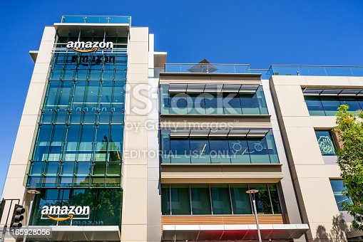 496586115 istock photo Amazon office building located in Silicon Valley 1165928056