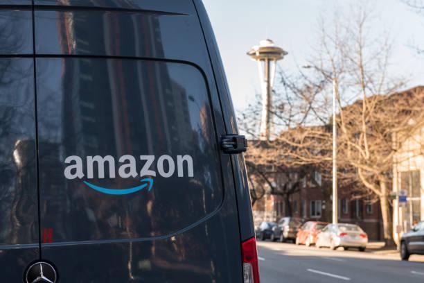 Amazon Prime Delivery stock photo