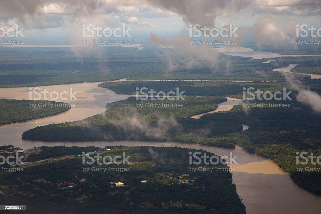 Amazon Rainforest and River, Pará State, Brazil stock photo