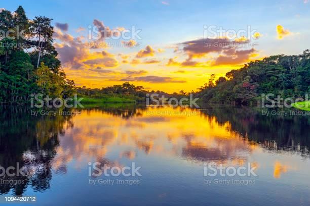 Photo of Amazon Rainforest Sunset, Ecuador