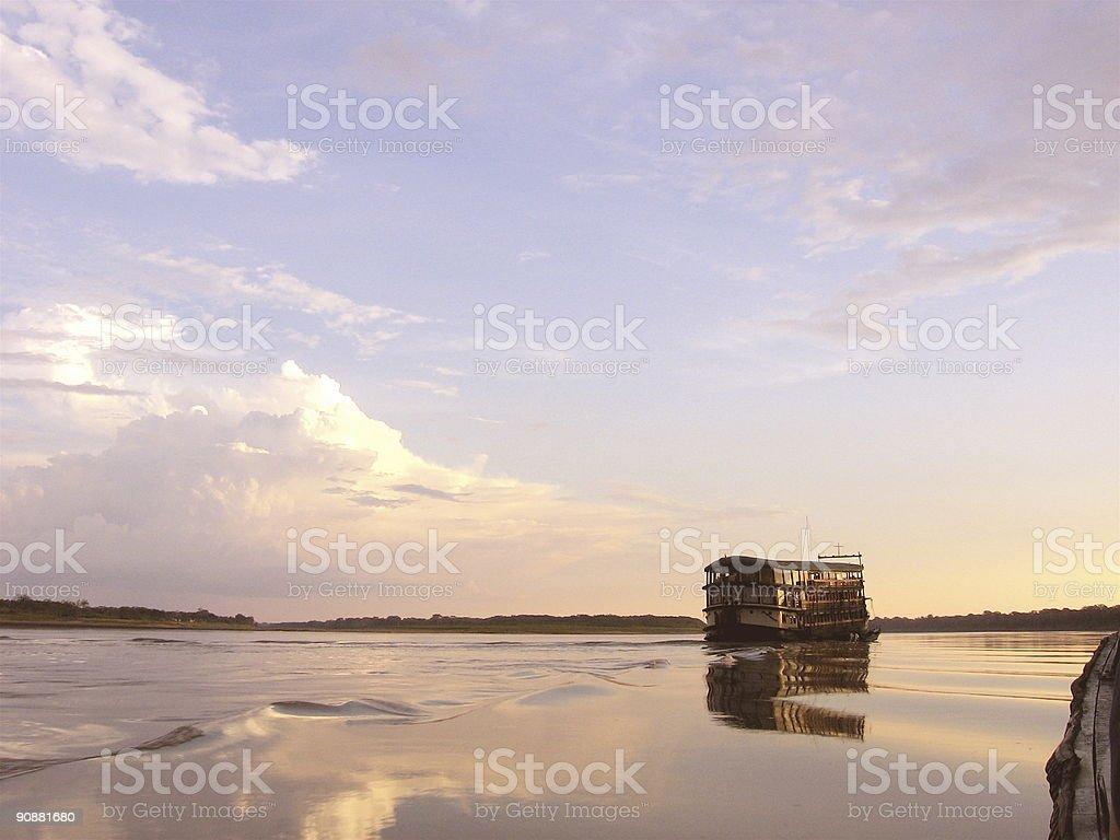 Amazon River Boat stock photo