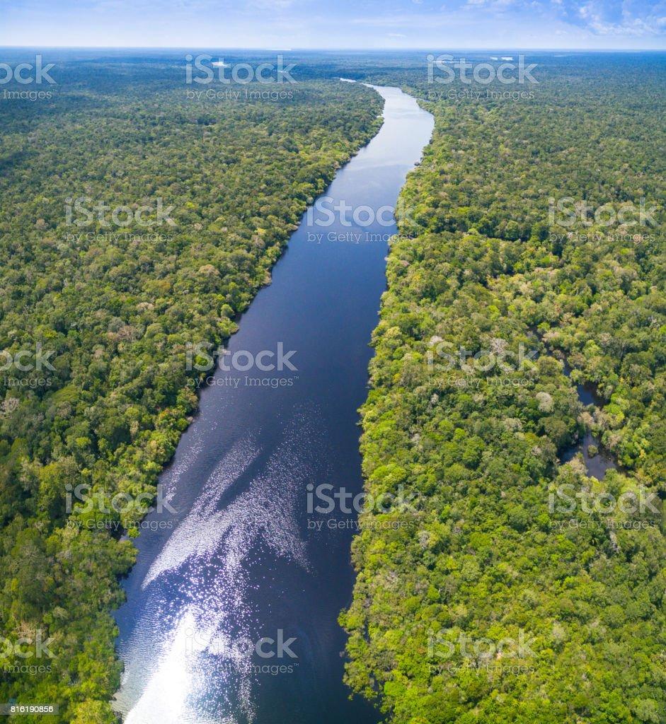 Amazon river in Brazil stock photo