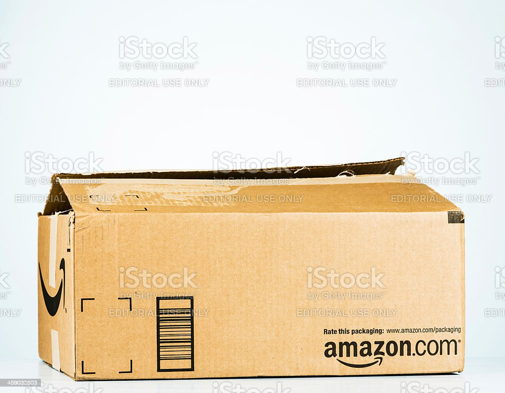Amazon Shipping Box royalty-free stock photo