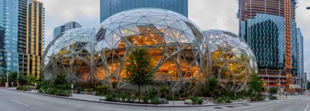 Amazon Spheres Pano stock photo