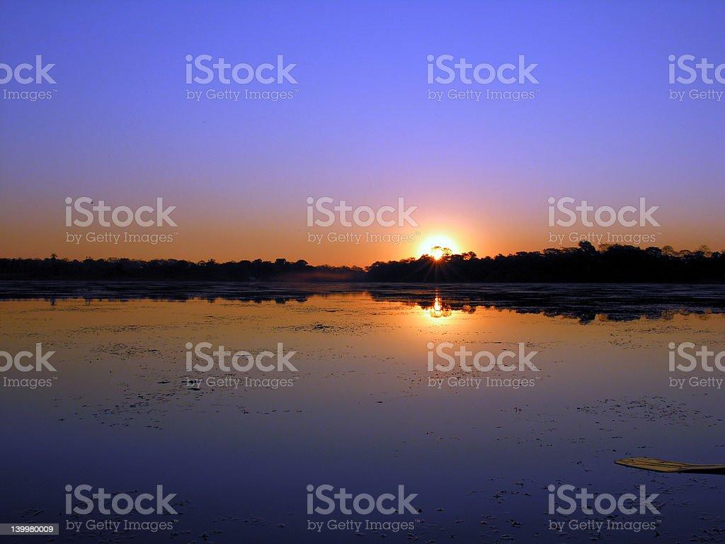 Amazon Sunrise royalty-free stock photo